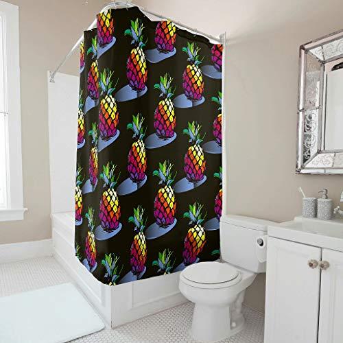 Vrnceit praktisch gedempte tinten kleurrijke met haak voor badkamer Transparant bovenstuk polyesterweefsel