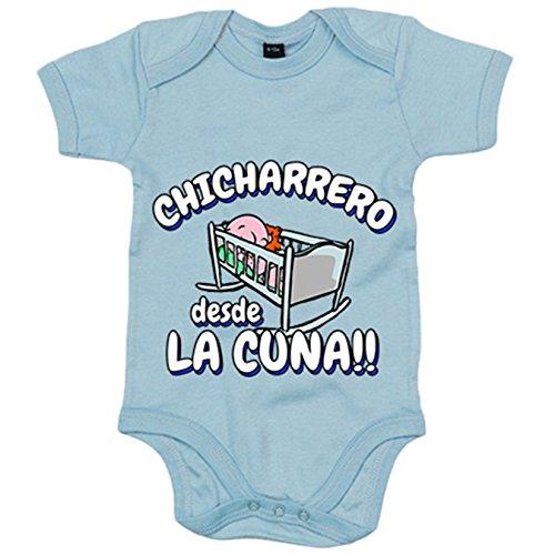 Body bebé Chicharrero desde la cuna Tenerife fútbol - Celeste, 6-12 meses