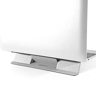 MOFT 見えないコンパクトノートパソコンスタンド 粘着 再利用可能 ミニバージョン 角度10度調節可能 最大15.6インチのノートパソコンに対応 (シルバー)