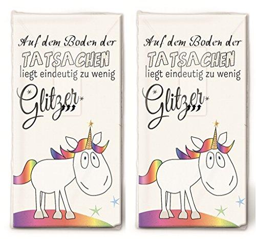 20 Taschentücher (2x 10) Einhorn für mehr Glitzer/Kinder/Geburtstag