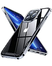 【透明シールド】 Humixx iPhone13 Pro用 ケース クリア 黄ばみなし 耐衝撃 米軍MIL規格 SGS認証 カバー 滑り止め 指紋防止 レンズ保護 ワイヤレス充電対応 シンプル あいふぉん13Pro用 ケース フィット感 iphone13 Pro用 カバー 6.1インチ [クリア]
