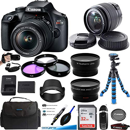 Deal-Expo EOS Rebel T100 Digital SLR Camera with 18-55mm Lens Kit + Expo Premium Accessories Bundle,CNT100EP