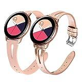 YaYuu Compatible avec 20mm Cuir Bracelet de Montre Samsung Galaxy Watch 42mm Bande en Véritable Cuir Sangle pour Galaxy Active...