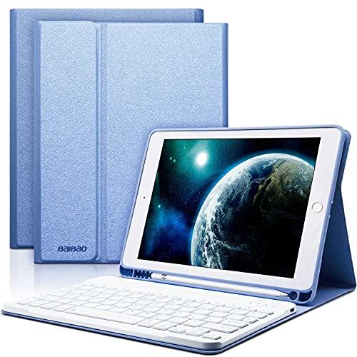 iPad 9.7 Keyboard Case for iPad 6th Generation 2018, iPad 9.7 5th Gen 2017, iPad Air 1, iPad Air 2 Case with Keyboard, Pencil Holder,Bluetooth Wireless Detachable Keyboard 9.7 inch iPad Cover