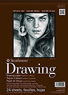 "Strathmore 400-5 STR-400-5 24 Sheet No.80 Drawing Pad, 11 by 14"", 11""x14"""