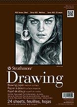 "Strathmore (400-5) STR-400-5 24 Sheet No.80 Drawing Pad, 11 by 14"", 11""x14"", Cream"