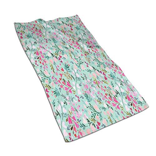Toalla de microfibra de cristal floral con forma de corazón, extra superabsorbente, de secado rápido, ligera, para natación, deportes, viajes, a prueba de arena, toallas de playa