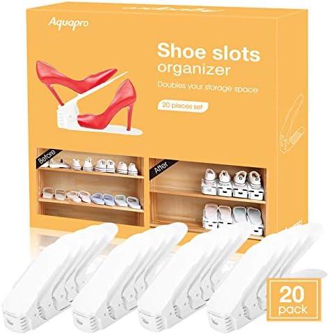 AQUAPRO Shoe Slots Organizer Adjustable Shoe Stacker Space Saver Double Deck Shoe Rack Holder product image