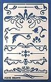 Aleks Melnyk #7 Stencil Plantilla de Metal para estarcir/Vintage, Flores/para Arte Manuali...