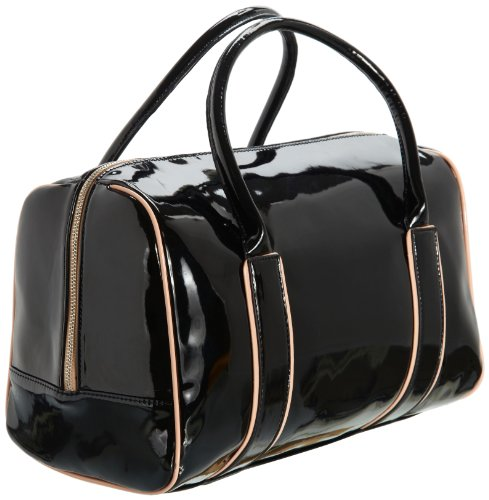 Friis & Company Damen Movie Star Bowler Bag Henkeltaschen, Schwarz (Black), 35x23x18 cm