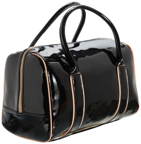 Friis & Company Damen Movie Star Bowler Bag Henkeltaschen, Schwarz (Black), 35x23x18 cm
