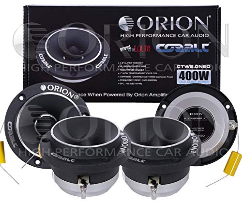 2 Pair 4 Tweeter CTW2.0NEO Strong 400 WATTS NEODYMIUN Motor Magnet HIGH Performance HIGH FREQ Extended Range 2000-24000 hZ CAR Stereo CAR Audio Most Powerful Tweeter ON This Size