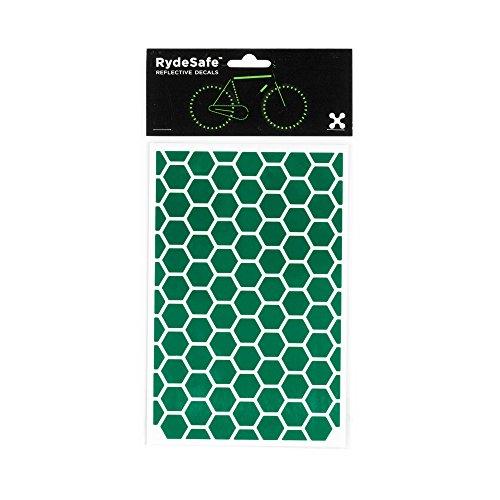 RydeSafe Reflective Decals - Hexagon Kit - Large (Green)