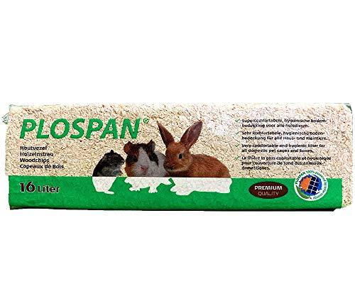Plospan Lettiera per Conigli e roditori in Legno Naturale, Alta assorbenza - Ecologica 16 Litri