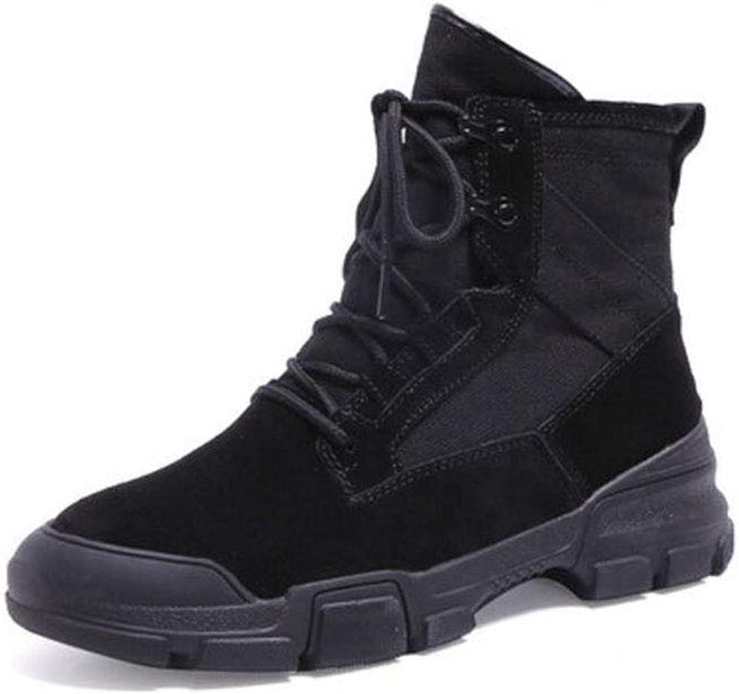 FH New Martin Boots Female Students Wild High shoes Single Boots