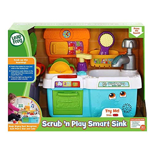 LeapFrog Scrub & Play Toy Sink Toy, Play Kitchen Accessories for Pretend...