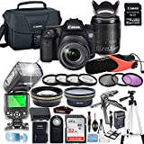 Canon EOS 7D Mark II DSLR Camera Bundle with Canon 18-135mm USM Lens + 32GB Sandisk Memory + Canon Case + TTL Speedlight Flash (Good Upto 180 Feet) + Condenser Video Microphone + Accessory Bundle