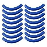 sourcing map Flessibile gomma arricciatore ciglia cuscino sostituibile pad blu 16 pz.