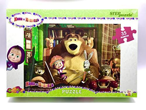 パズル35 Maxi Masha and the Bear、漫画、パズル、子供のおもちゃ、好きな漫画のキャラクター、プレハブのブロック、おもちゃ、パズル、パズル