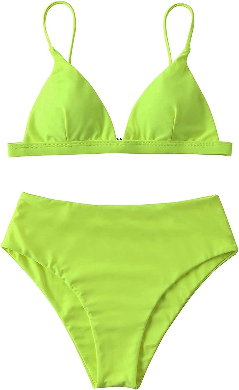 Women's Plus Size Bikini Halter Swimsuit Two Piece Bathing Suit Twist High Waisted Swimwear