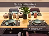 Edle Filz Platzmatten für 4 Personen in graumeliert (+ weitere Farben). XXL Tischset ca. 30x45cm groß und waschbar. Moderne Designer Filz Tischmatten bzw. Tischunterlagen als tolles Platzset für Ihr Esszimmer. - 4