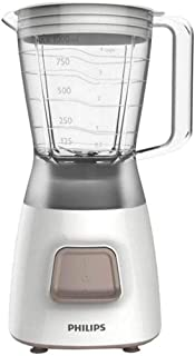 Philips HR2052/00 Licuadora Daily Basic 450 W, 1.25 litros, 0 Decibeles, Plástico, Blanco