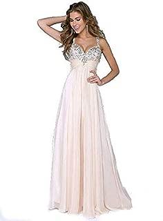 Light Pink Sleevless Long Formal Wedding Gown Party Evening Cocktail Prom Beach Women Dress