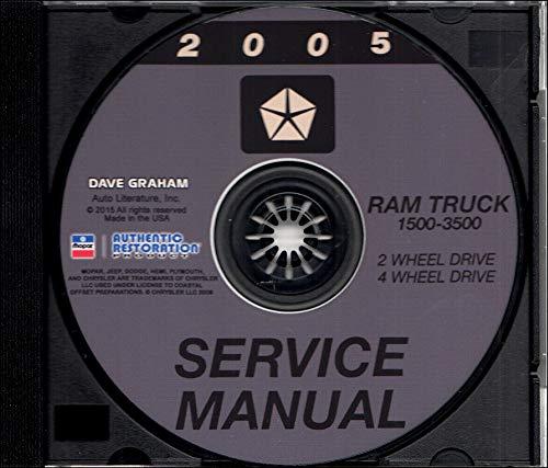 2005 DODGE RAM TRUCK PICKUP REPAIR SHOP & SERVICE MANUAL CD For 1500, 2500, 3500
