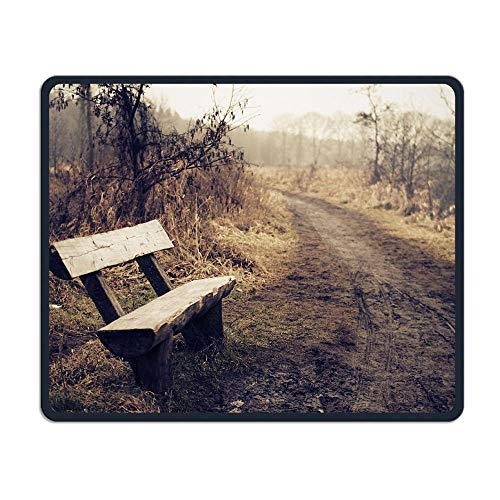 Gaming-Mauspad, Mauspads Mouse Pad Packway Wood Chair Landscape Rectangle Non-Slip Unique Designs Gaming Rubber Mousepad Stitched Edges Mouse Mat 25 x 30cm for Notebooks,Desktop Computers
