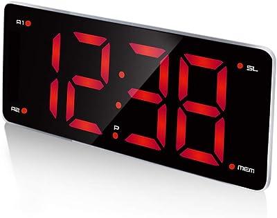 Table Clock Home Reloj Despertador para los durmientes Pesados Relojes de Escritorio para la