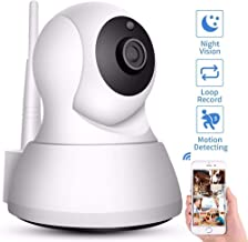 Dome Surveillance Cameras,Home Security IP Camera Wi-Fi 720P Wireless Network Camera CCTV Camera Surveillance 720P Add 32G...