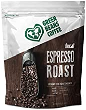 Green Beans Coffee Decaf Espresso Roast Whole Bean Coffee – Medium Dark Roast, Low Caffeine – 100% AA Arabica Central American Origin Beans Roasted in the USA – 1 Resealable Bag (2 lb)