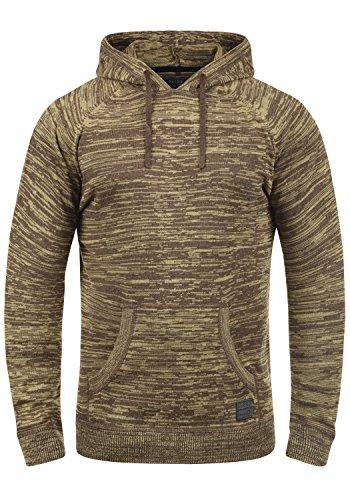 Blend Sammy Herren Strickpullover Kapuzenpullover Feinstrick Pullover Mit Kapuze Aus 100% Baumwolle, Größe:L, Farbe:Mocca Mix (70816)