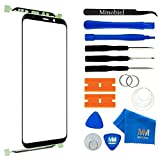 MMOBIEL Front Glass Repair Kit Compatible with Samsung Galaxy S9 G960 Series (Black) Display Touchscreen incl. Tool Kit