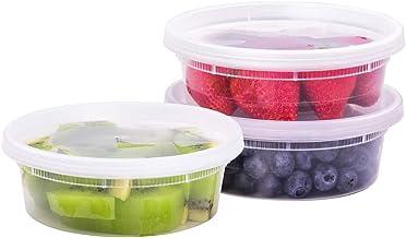 تاشي بوكس [236 مل، 50 طقم] حاويات تخزين طعام بلاستيكية مع أغطية محكمة الإغلاق، خالية من البيسفينول، للاستخدام في الميكرووي...