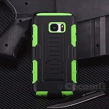 Cocomii Robot Armor Galaxy S7 Funda Nuevo [Robusto] Superior Funda Clip para Cinturón Soporte Antichoque Caja [Militar Defensor] Cuerpo Completo Sólido Case Carcasa for Samsung Galaxy S7 (R.Green)