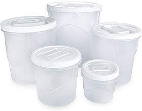Conjunto para Mantimentos Redondo com 5 Unidades Plasútil Branco