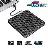 Lecteur DVD Externe USB 3.0, Portable Graveur DVD Ultra Mince CD-RW DVD-RW Player Enregistreur...