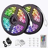 Onforu 20M RGB LED Strip, Farbwechsel Streifen mit 44 Tasten Fernbedienung, Farbig Lichtband mit Timer, Selbstklebend 5050 LED Band, DIY Bunt Dimmbar Lichtstreifen für Zimmer, Party, Bar, Weihnachten