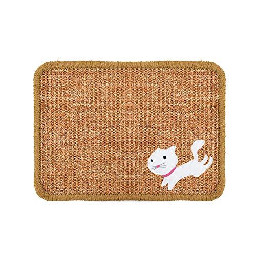 ZZMUK Sisal Katzenkratzmatte, Grinding Claw Pad Anti-Rutsch-Pet Grinding Claws Kratzteppich Möbel Protector Play Pad