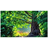 Venta de bordado de diamantes de Aolala, árbol verde, pintura de diamantes grandes Novedades Ronda de taladro completa, mosaico de diamantes 5D Diamond Painting, 50X150cm