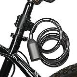 SHYEKYO Candado, Dos Formas de desbloquear el candado de Cable de autorización remota con reconocimiento de 360 Grados para Motocicletas Bicicletas Automóviles eléctricos, Scooters