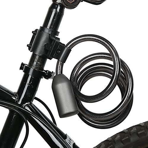 BOLORAMO Bloqueo de Cable, Carga, Huella Dactilar, desbloqueo, Material de aleación de Zinc, 0,2 Segundos para desbloquear, Bloqueo Bluetooth para Motocicletas, Bicicletas, Coches eléctricos,
