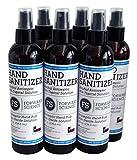 Hand Sanitizer - 80% Ethanol Alcohol - World Health Organization Formula - 8 fl. oz. 6 Pack - Liquid Spray - Made in USA