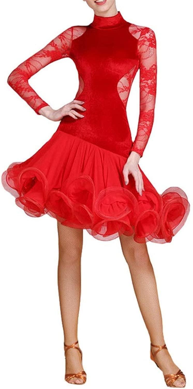 Peggy Gu Abiti da Btuttio per Donna Abito da Donna con Balza in Pizzo con Collo Alto e Collo Alto con Balze e Balze (Coloreee   Rosso, Dimensione   XXL)