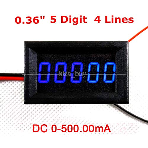 Find Discount DP-iot 5 Digit DC 0-500MA Digital Ammeter Blue LED Amperemeter High Precision AMP Test...