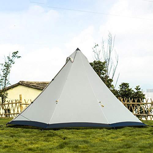 Gran espacio pirámide Tipi tienda para 4-6 personas impermeable a prueba de viento tienda de campaña con falda de nieve tienda familiar 210T/40D
