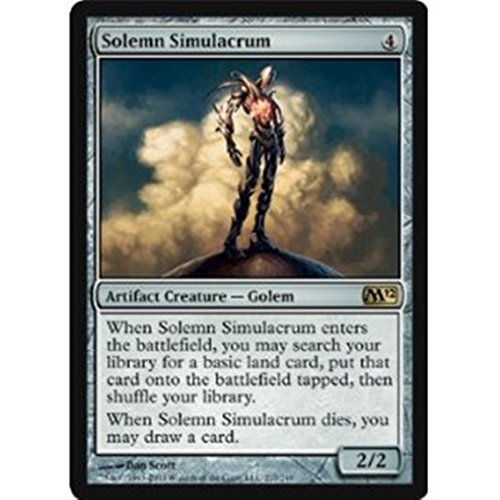 Magic: the Gathering - Solemn Simulacrum - Magic 2012