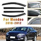 Piaobaige Deflector De Visera De Lluvia Y Sol para Ventana De Coche De 4 Piezas para Ford Mondeo 2010 2011 2012