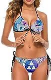 Conjunto de Bikini Halter Ajustable de Dos Piezas para Mujer y niña Traje de baño...